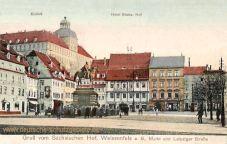 Weißenfels, Markt und Leipziger Straße