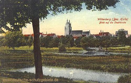 Wittenberg, Blick auf die Stadtkirche
