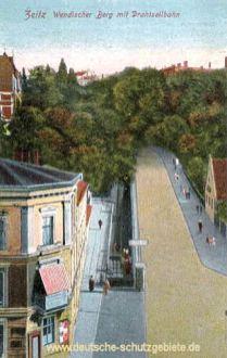 Zeitz, Wendischer Berg mit Drahtseilbahn