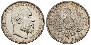 Alfred Herzog von Sachsen-Coburg-Gotha, 2 Mark 1895