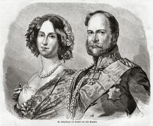 Der Prinz-Regent von Preußen und seine Gemahlin