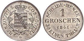 Herzogtum Sachsen-Coburg-Gotha, 1 Groschen 1841