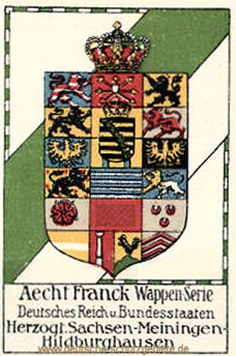 Herzogtum Sachsen-Meiningen, Wappen