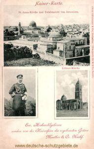 Jerusalem, St. Anna-Kirche und Erlöser-Kirche