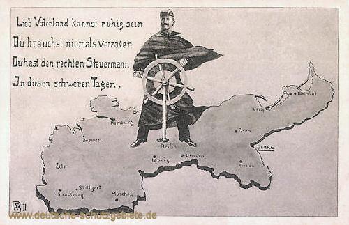 Kaiser Wilhelm II. als Steuermann des Deutschen Reiches