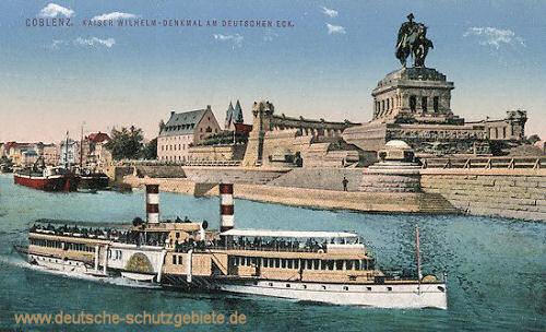 Koblenz, Kaiser Wilhelm-Denkmal am Deutschen Eck