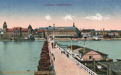 Koblenz, Schiffbrücke