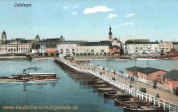 Koblenz, Stadtansicht mit Schiffbrücke