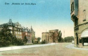 Trier, Nordallee mit Porta-Nigra