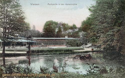 Viersen, Parkpartie in der Kaisermühle