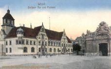 Wesel, Berliner Tor und Postamt