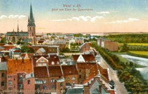 Wesel, Blick vom Turm des Gymnasiums