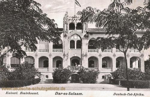 Deutsch-Ost-Afrika, Kaiserliches Bezirksamt in Dar-es-Salaam