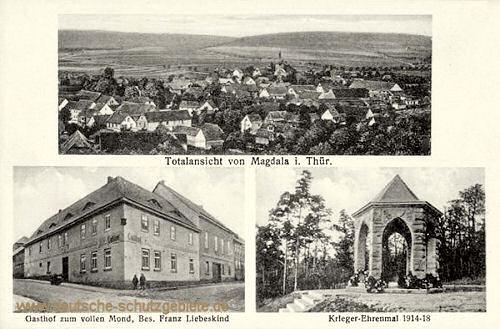 Magdala, Stadtansicht, Gasthof, Kriegerdenkmal