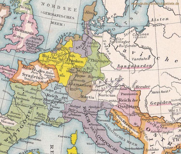 Völker Mitteleuropas nach 476