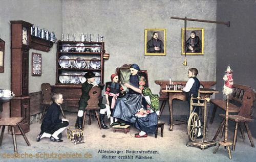 Altenburger Tracht, Mutter erzählt Märchen