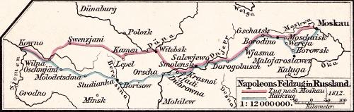 Napoleons Feldzug in Russland, 1812