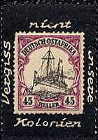 Deutsch-Ostafrika, Vignette