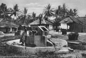 Deutsch-Ostafrika, Dorfbrunnen in Bagamoyo