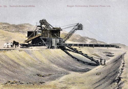 Deutsch-Südwest-Afrika, Bagger-Kolmmannskop Diamond Mines Ltd.