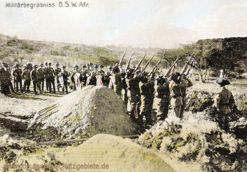 Deutsch-Südwest-Afrika, Militärbegräbnis