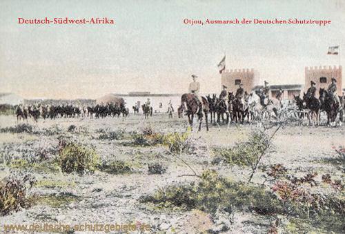Deutsch-Südwest-Afrika, Otjou, Ausmarsch der Deutschen Schutztruppe