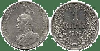 Deutsch-Ostafrika 1 Rupie, 1906