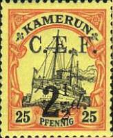 Kamerun 25 Pfennig, Britische Besetzung