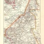 Kamerun, Landkarte 1900
