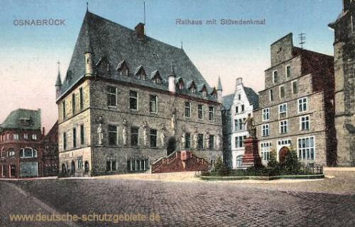 Osnabrück, Rathaus mit Stuevedenkmal