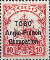 TOGO Anglo-French Occupation, 10 Pfennig