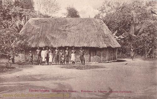 Deutsch-Neu-Guinea, Herbertshöhe, Wohnhaus in Takubar, Gazelle-Halbinsel