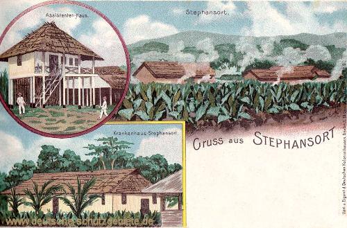 Deutsch-Neu-Guinea, Stephansort, Assistenten-Haus, Krankenhaus Stephansort