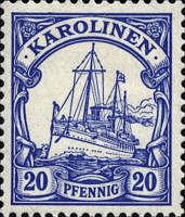 Karolinen, 20 Pfennig, 1900
