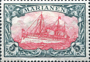 Marianen, 5 Mark, 1901