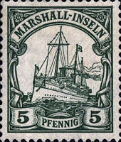 Marshall-Inseln, 5 Pfennig, 1900