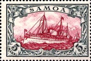 Samoa 5 Mark, 1900