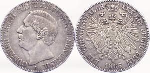 1 Vereinstaler 1865, Schwarzburg-Sondershausen