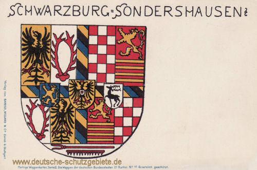 Schwarzburg-Sondershausen, Wappen