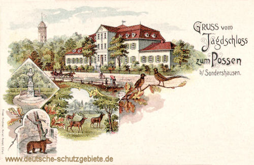 Gruss vom Jagdschloss zum Possen bei Sondershausen