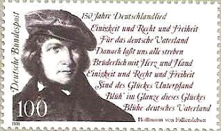 150 Jahre Deutschlandlied - Deutsche Bundespost 1991