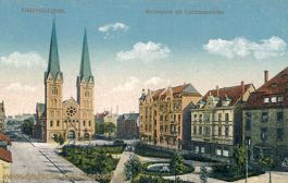 Gelsenkirchen, Moltkeplatz mit Liebfrauenkirche