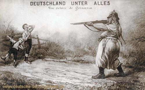 """Germania, """"Deutschland unter alles"""""""