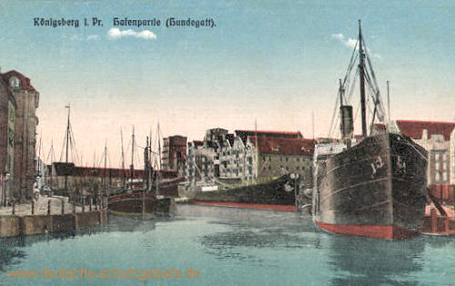 Königsberg, Hafenpartie (Hundegatt)