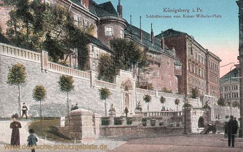 Königsberg, Schlossterrasse vom Kaiser-Wilhelm-Platz