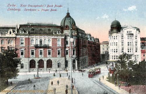 Lemberg, Sparkasse und Prager Bank