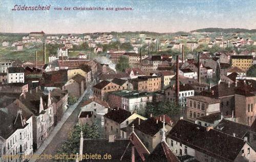 Lüdenscheid von der Christuskirche aus gesehen