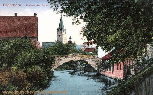 Paderborn, Ausfluss der Pader