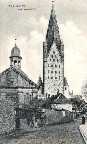 Paderborn, Dom, Westseite