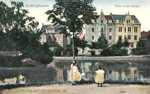 Recklinghausen, Partie in den Anlagen